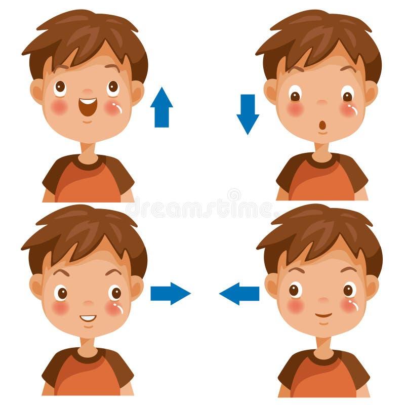 Vista das crianças ilustração stock