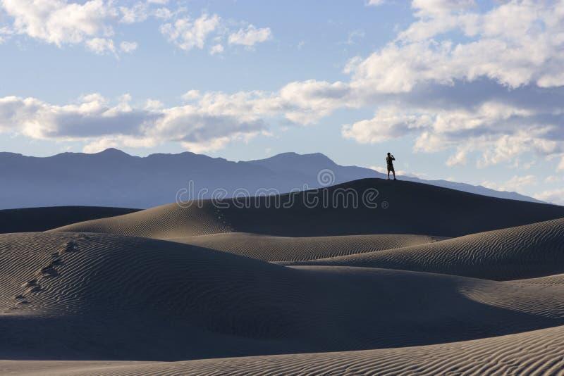 Vista das dunas de Death Valley foto de stock