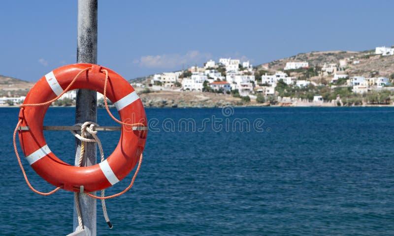 Vista das ilhas gregas fotografia de stock