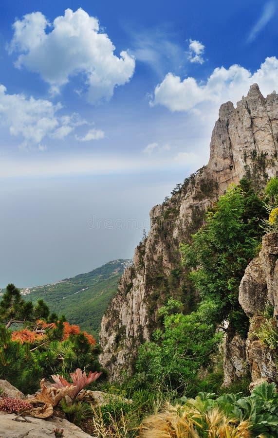 Vista das montanhas foto de stock royalty free