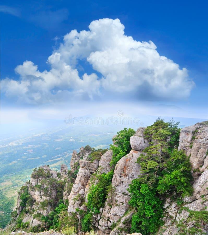 Vista das montanhas imagens de stock royalty free