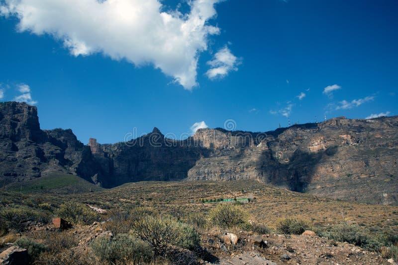 Vista das montanhas de Gran Canaria imagens de stock