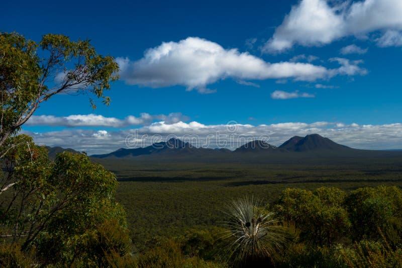 Vista das montanhas, Sterling Ranges Australia fotos de stock
