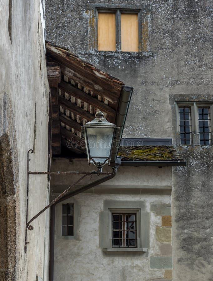 Vista das paredes da cidade de Stein am Rhein - 1 imagem de stock royalty free