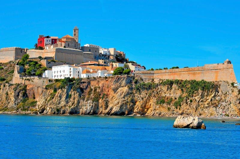 Dalt Vila, a cidade velha da cidade de Ibiza, em Ibiza, Balearic Island imagem de stock royalty free