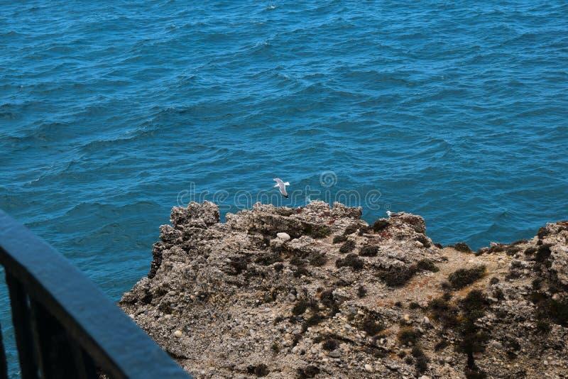 Vista das rochas no mar imagem de stock royalty free