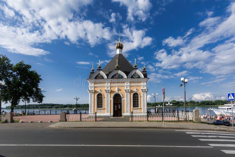 Vista das ruas da cidade velha do russo foto de stock