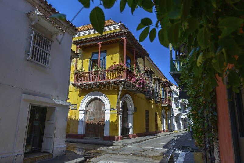 Vista das ruas de Cartagena, Colômbia imagem de stock