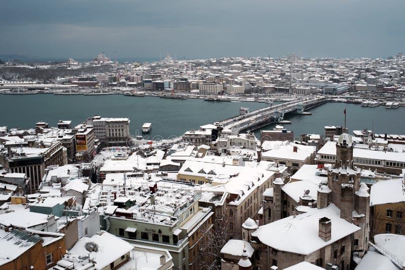 Vista de Ä°stanbul de la torre de Galata imagen de archivo libre de regalías