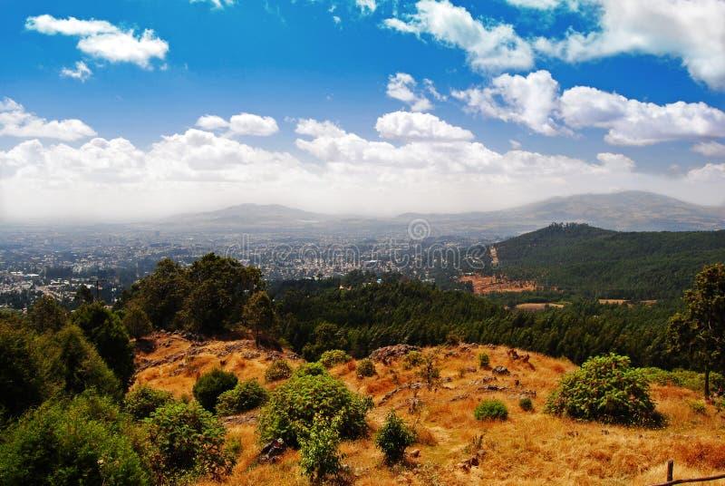 Vista de Addis Ababa imagens de stock royalty free