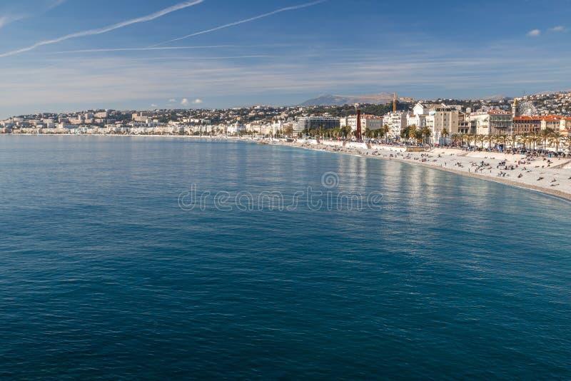 Vista de agradável no Riviera francês fotos de stock