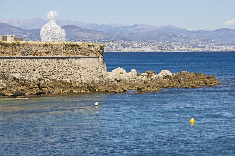 Vista de Antibes, sul de France foto de stock