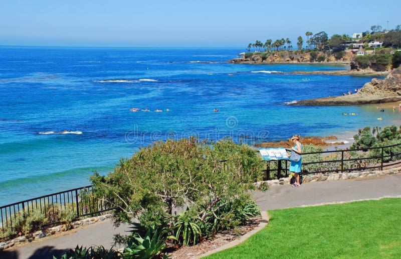 Vista de apreciação superior no parque de Heisler, Laguna Beach fotografia de stock royalty free