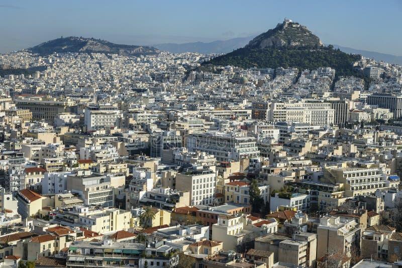 Vista de Atenas, Grécia fotos de stock