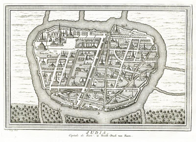 Vista de Ayutthaya Judia Tailandia - 1750 imágenes de archivo libres de regalías