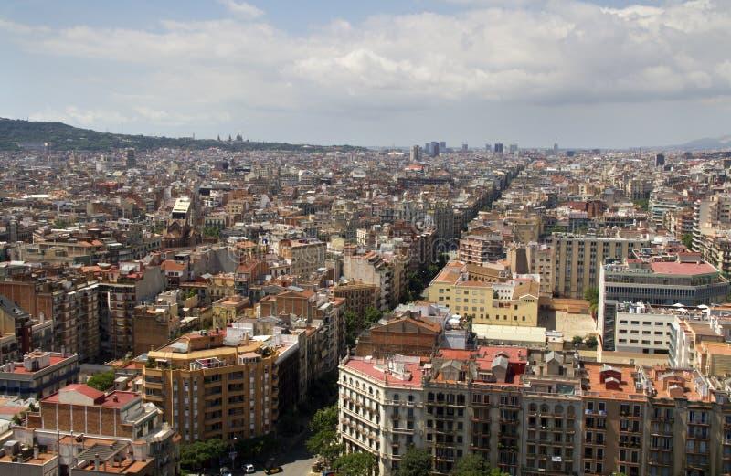 Vista de Barcelona fotografia de stock