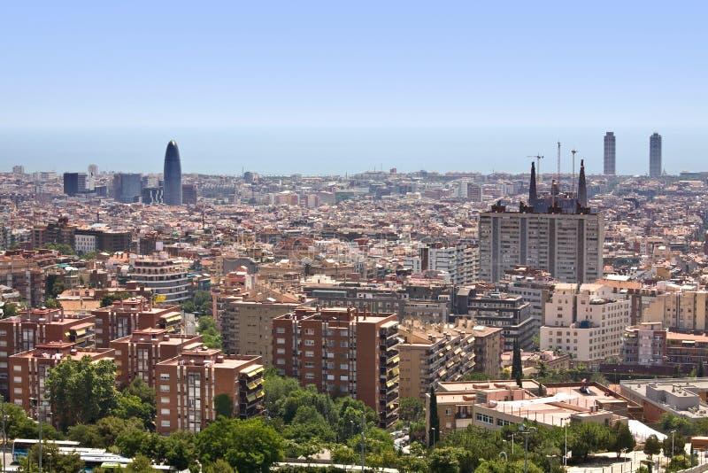 Vista de Barcelona imagem de stock royalty free