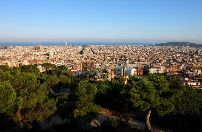 Vista de Barcelona. foto de archivo libre de regalías