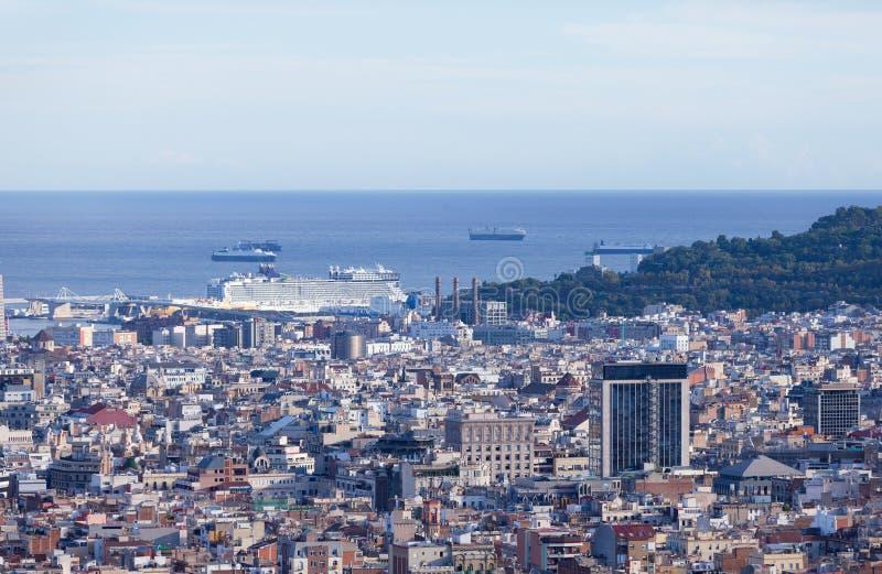 Vista de Barcelona foto de archivo