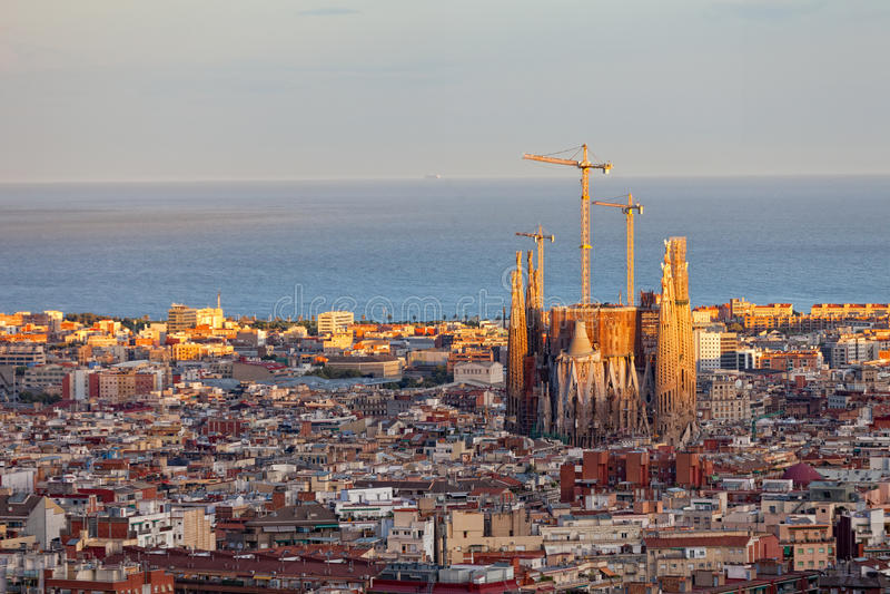 Vista de Barcelona fotografía de archivo