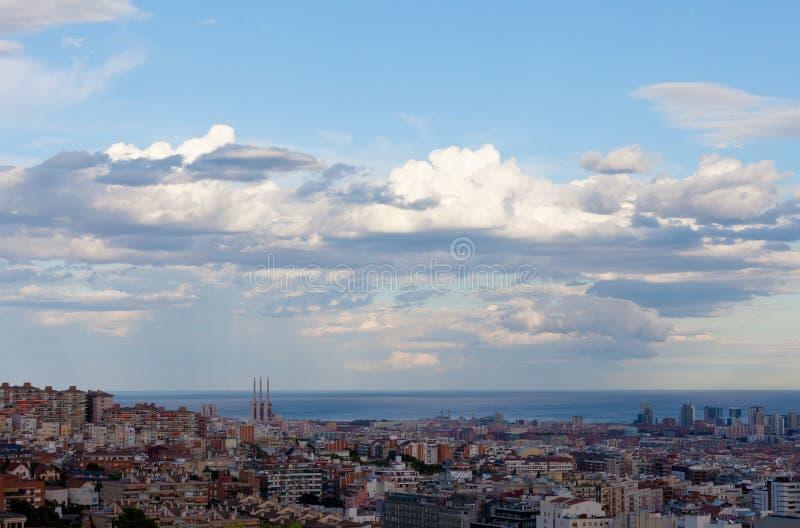 Vista de Barcelona fotos de archivo