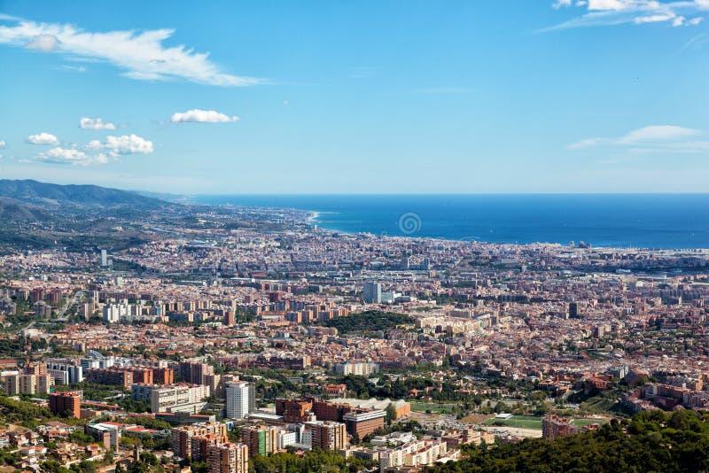 Vista de Barcelona imágenes de archivo libres de regalías