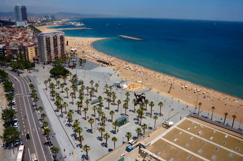 Vista de Barcelona de arriba imagenes de archivo