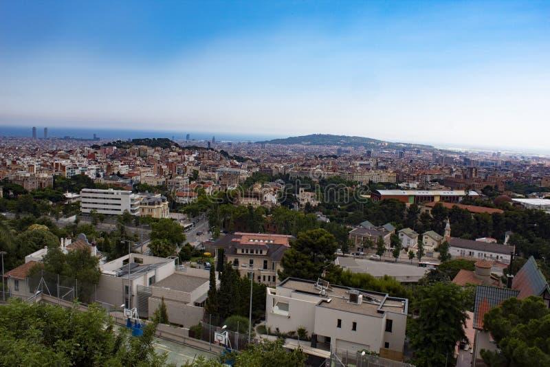 Vista de Barcelona, España del Mt Tibidabo imagenes de archivo