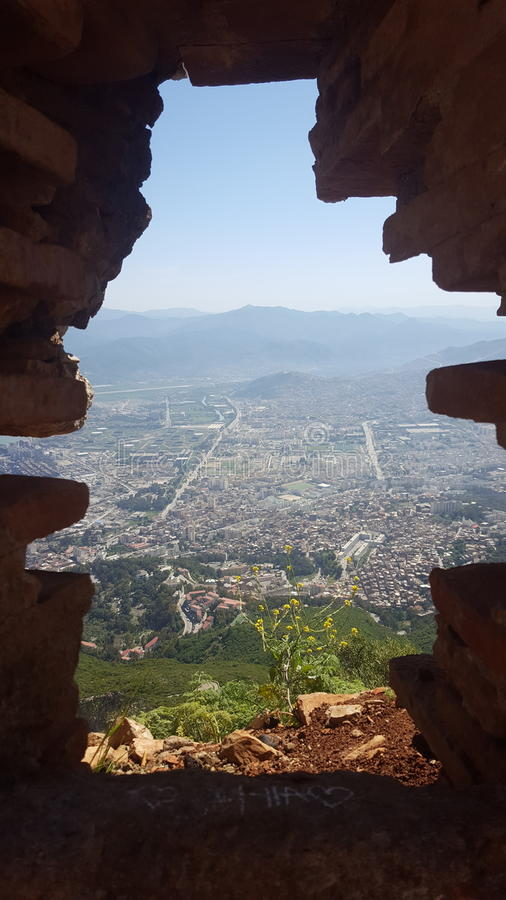 Vista de Bejaia fotografía de archivo