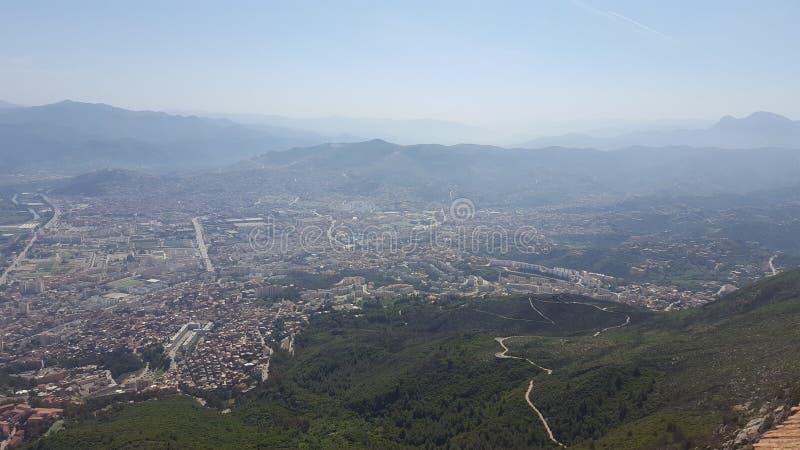 Vista de Bejaia fotos de archivo
