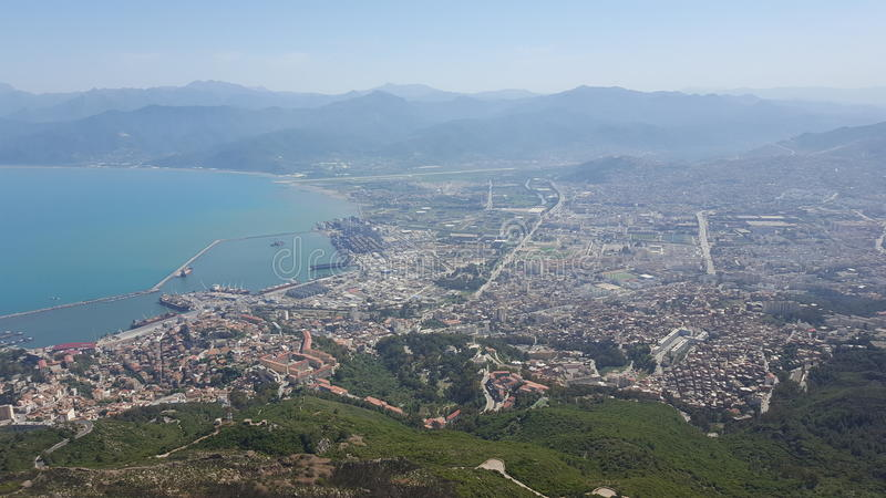 Vista de Bejaia imagenes de archivo