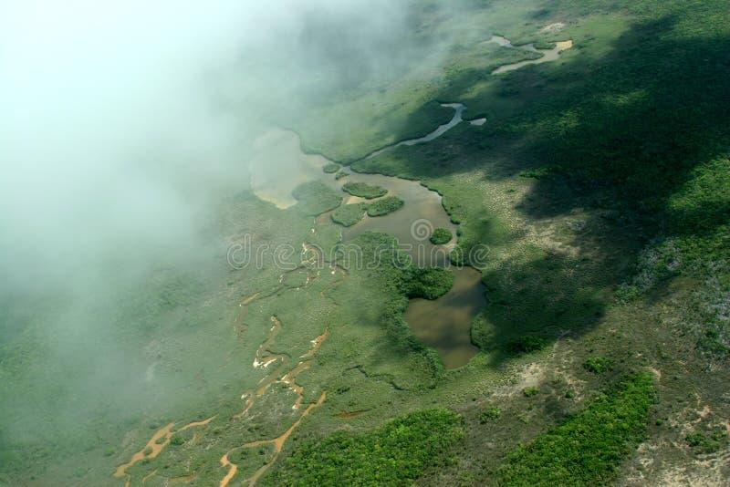 Vista de Belize acima fotos de stock royalty free