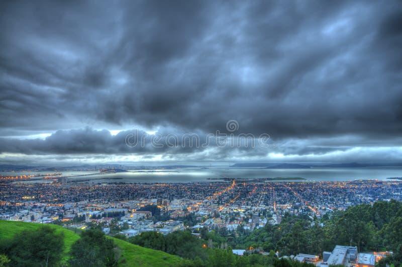 Vista de Berkeley y de San Francisco imagen de archivo