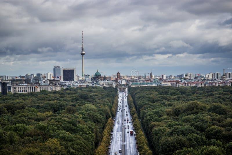 Vista de Berlim imagens de stock