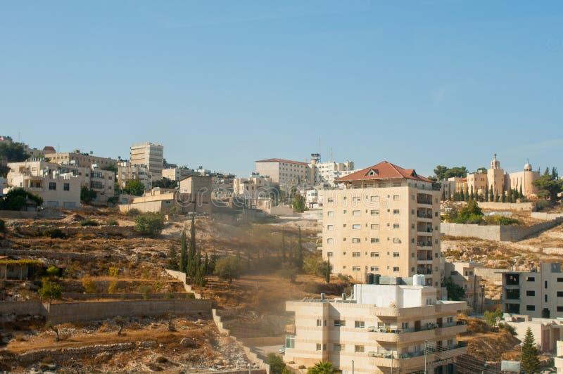 Vista de Bethlehem, Palestina imagem de stock