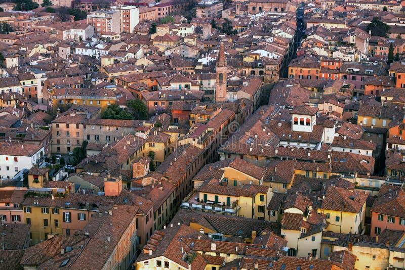 Vista de Bolonia foto de archivo