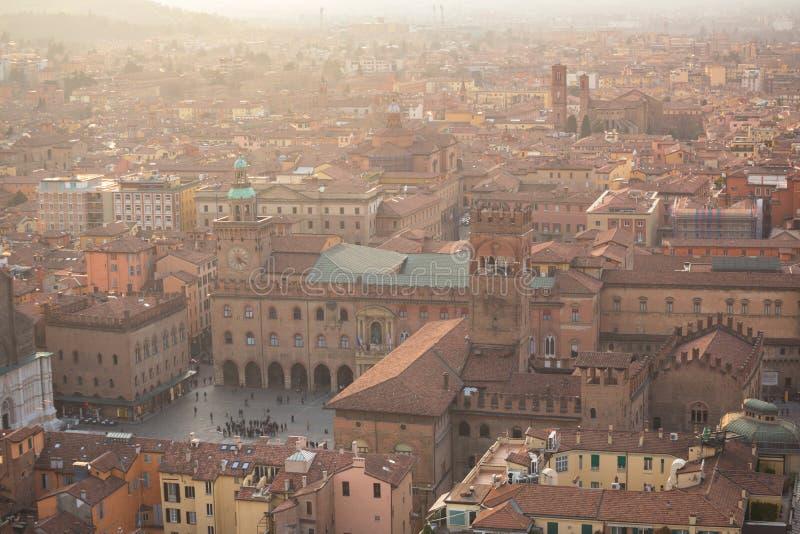 Vista de Bolonia imagenes de archivo