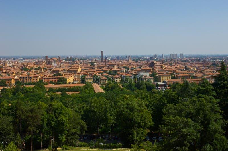 Vista de Bolonia imagen de archivo