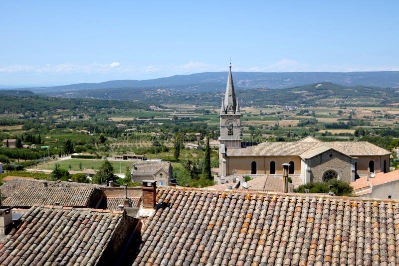 Vista de Bonnieux, França foto de stock royalty free