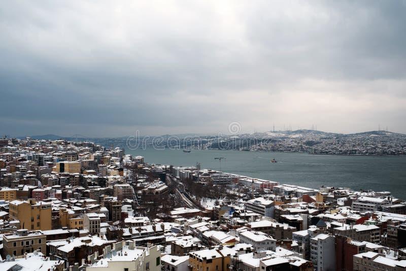Vista de Bosphorus da torre de Galata imagem de stock