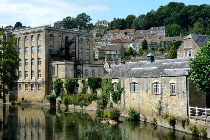 Vista de Bradford-em-Avon, Wiltshire, Reino Unido fotos de stock royalty free