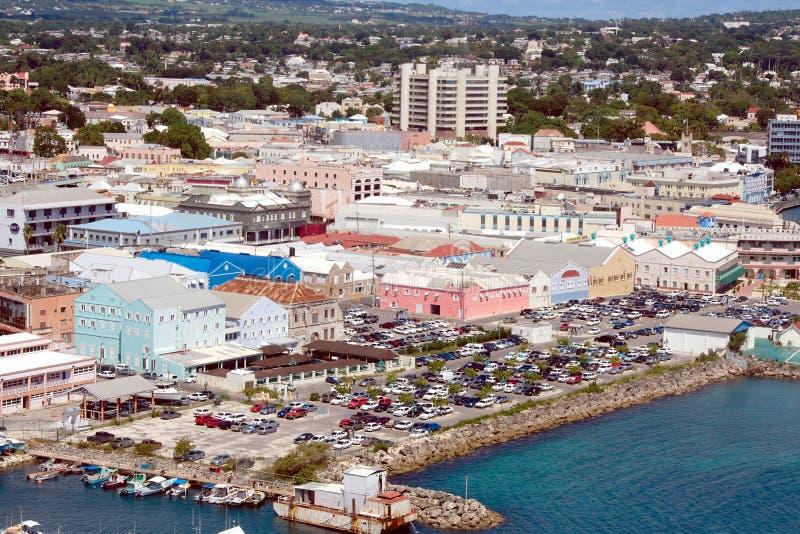 Vista de Bridgetown (Barbados) fotos de archivo libres de regalías