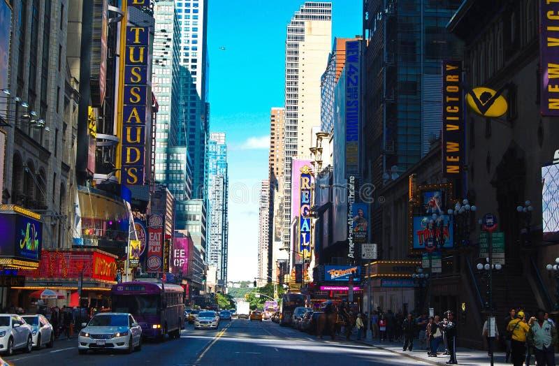 Vista de Broadway em New York fotos de stock