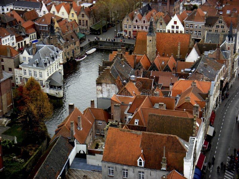 Vista de Brujas, Bélgica fotos de archivo libres de regalías