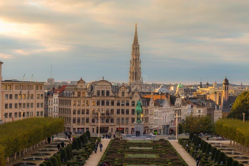 Vista de Bruxelas Bélgica imagens de stock royalty free