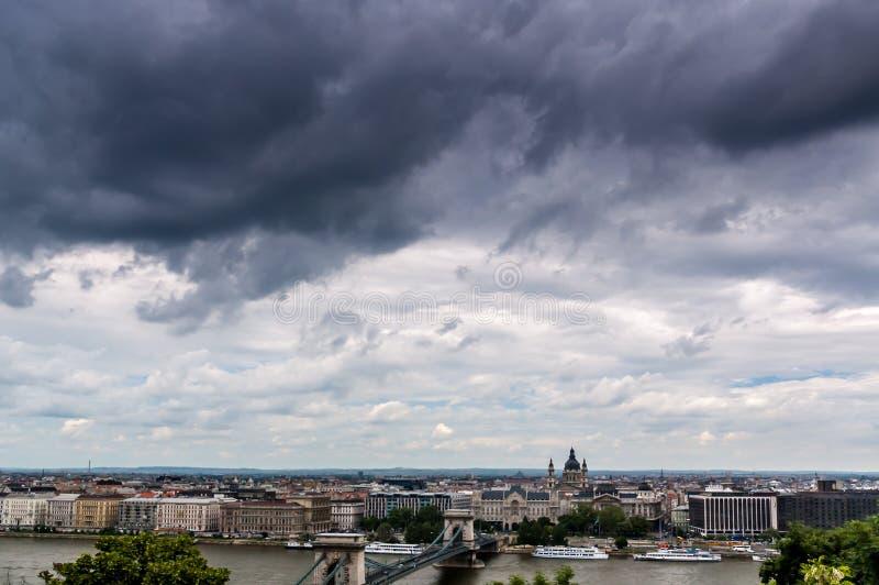 Vista de Budapest fotografía de archivo