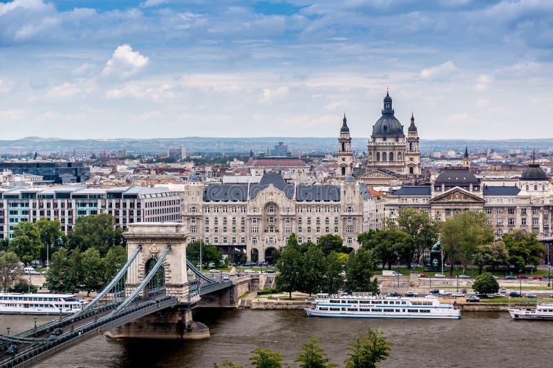 Vista de Budapest imagen de archivo