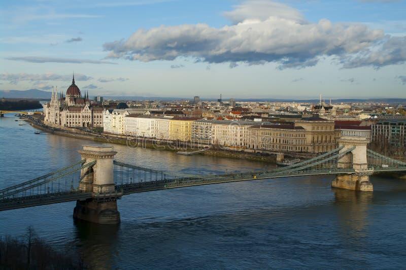 Vista de Budapest, Hungría fotografía de archivo
