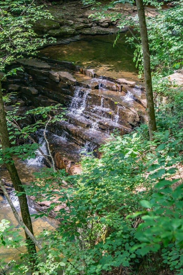 Vista de cachoeiras das minas de Fenwick imagem de stock