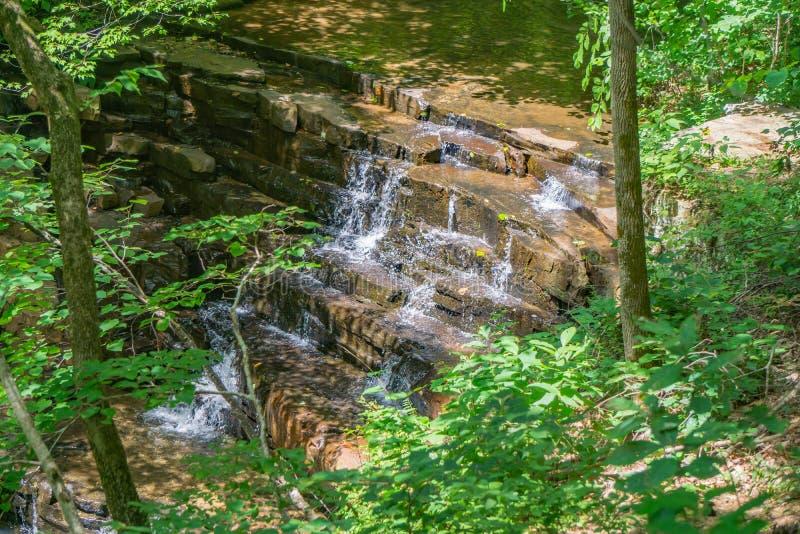 Vista de cachoeiras das minas de Fenwick fotografia de stock royalty free